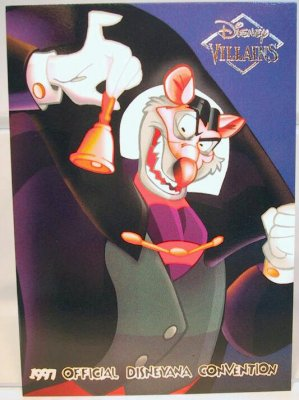 Ratigan Disney Villains 2 Sided Card From Our Other
