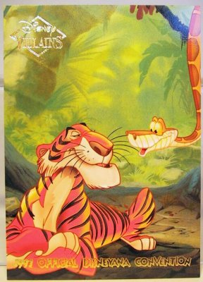 Shere Khan Amp Kaa Disney Villains 2 Sided Card From Our