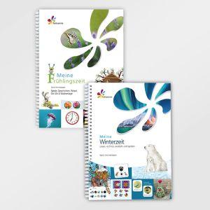 Meine Frühlingszeit & Meine Winterzeit - Jahreszeit Frühling und Winter, Advent - Lernmaterial für Kinder