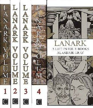 book cover of   Lanark   A Life in Four Books   by  Alasdair Gray