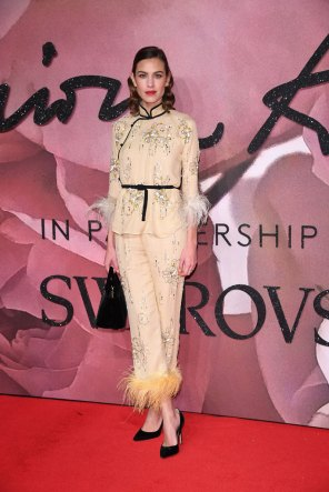 Alexa Chung @ Fashion Awards 2016