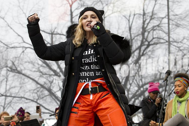 Madonna en la Women's March 2017