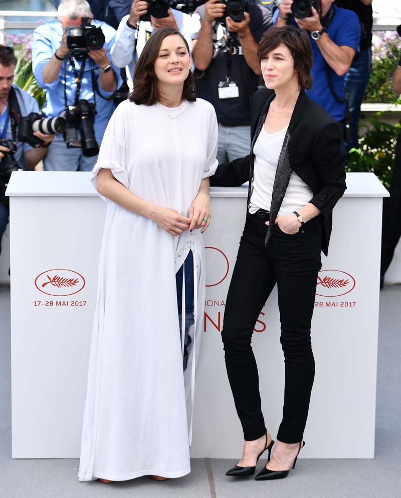Charlotte Gainsbourg y Marion Cotillard @ Cannes 2017