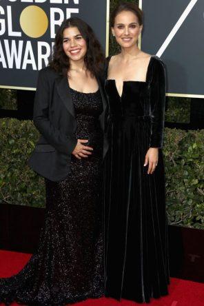America Ferrera (Christian Siriano) y Natalie Portman (Dior)