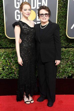 Emma Stone (Louis Vuitton) y Billie Jean King