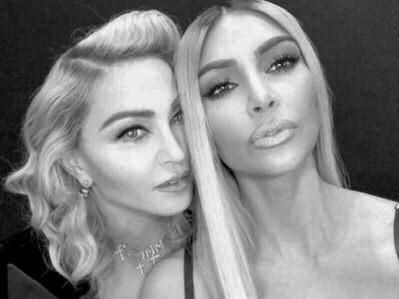 Madonna y Kim Kardashian
