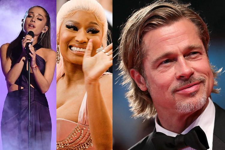 DOWN: Ariana Grande, Nicki Minaj, Brad Pitt