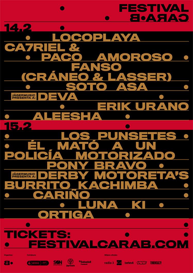 Cara·B 2020 (cartel)