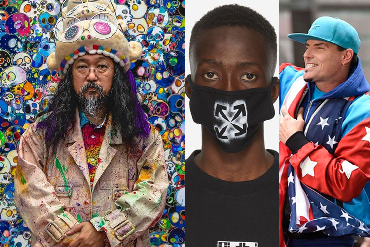 DOWN: Takashi Murakami, Off-White, Vanilla Ice...