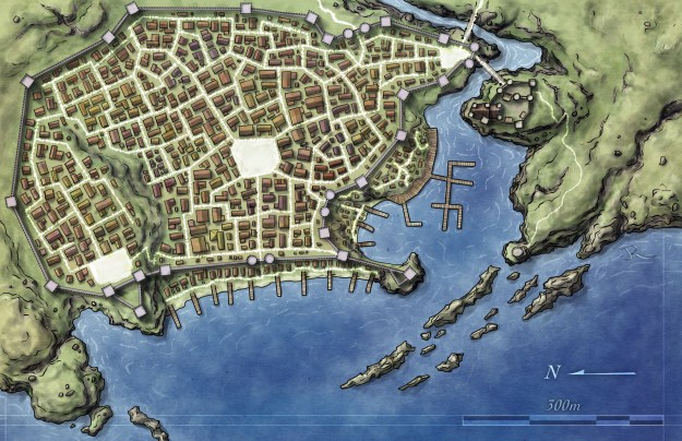 Free Fantasy City Map