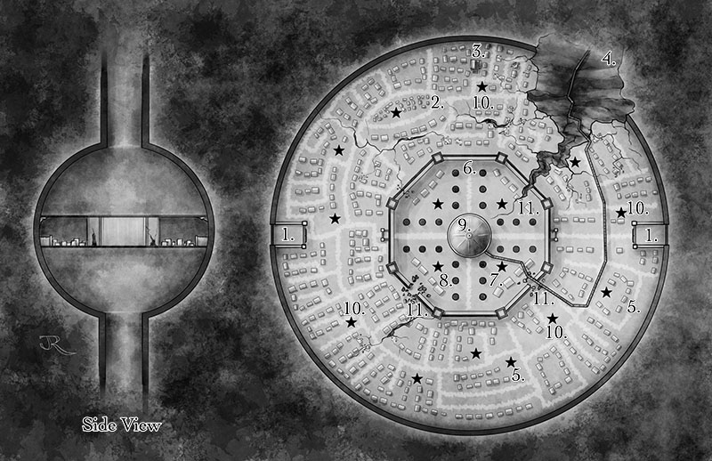 Fantasy map of the Vault of Kadralhu
