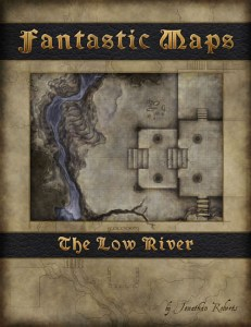 Fantasy map cover art for the Low River map pack