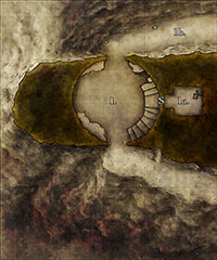Fantasy map of a tower dungeon for the Ruins Perilous by Rite Publishing