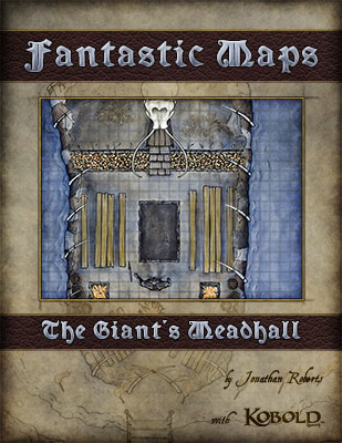 Giants' Meadhall fantasy map pack sale for Dungeons and Dragons, Pathfinder and 4e games
