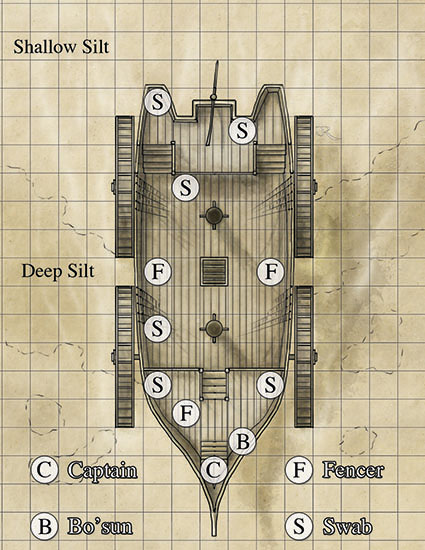 Silt Sailors fantasy battlemap Map for Ianto's Tomb - Dark Sun #1 comic and Dungeons and Dragons Module by IDW