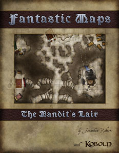 Bandit's Lair Fantasy Dungeon Map Pack for sale