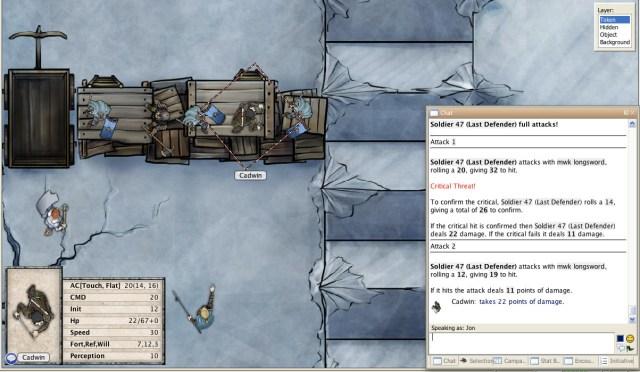 Breaking of Forstor Nagar fantasy pathfinder adventure combat screenshot