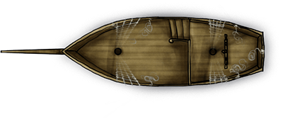 Pinnace sample ship map for fantasy map pack