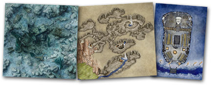 Kobold quarterly map bundles for d&d and pathfinder games
