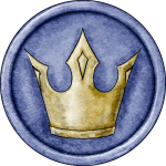 Blue King Token for Great Hunt Game