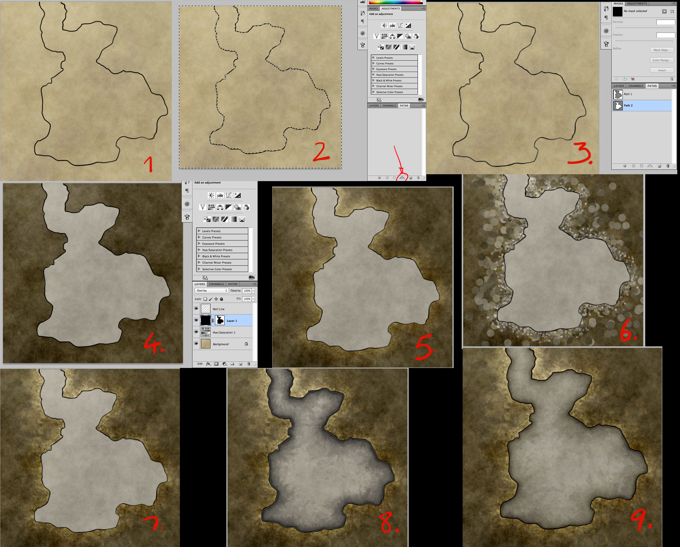 How to make a Simple Dungeon Map in Photoshop - YouTube
