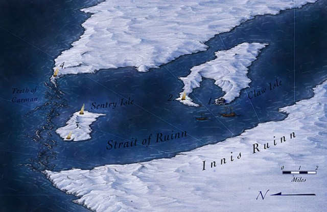 Map of the Straits of Innis Ruinn for Illusionary Press