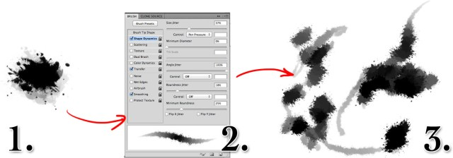 How to make a grunge brush in photoshop