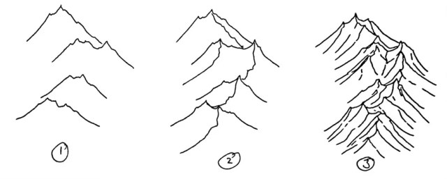 A tutorial on how to draw isometric mountains for fantasy maps