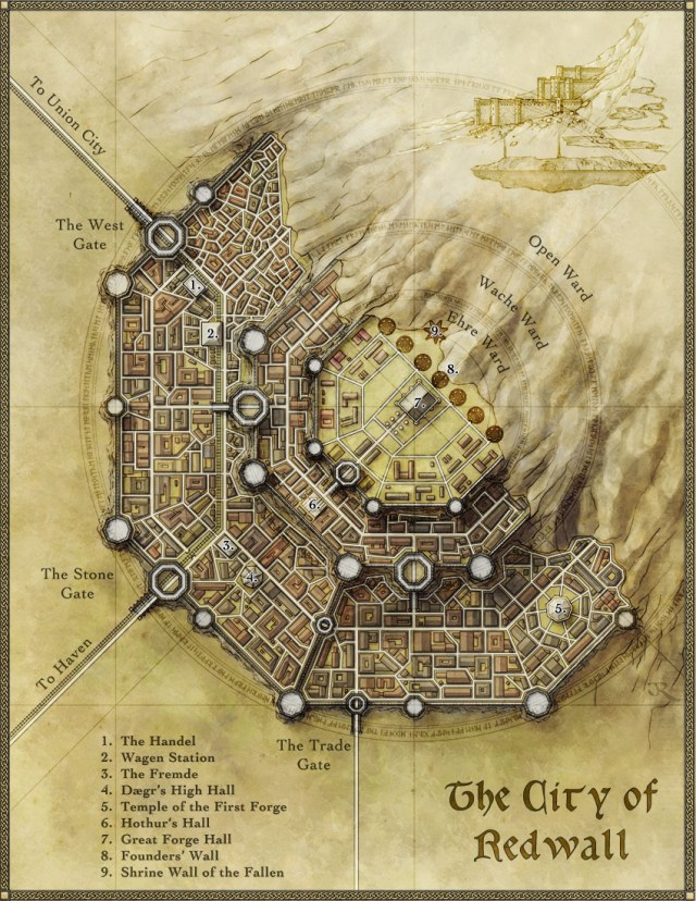 The city of Redwall - for a tutorial on city design