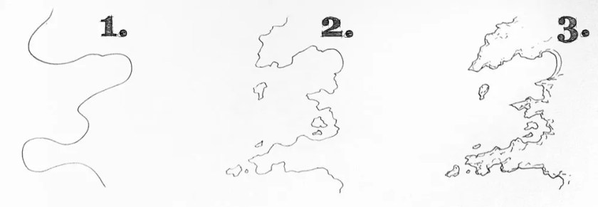 How to draw realistic coastlines