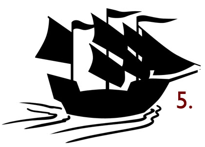 Fill the selection to create a ship icon