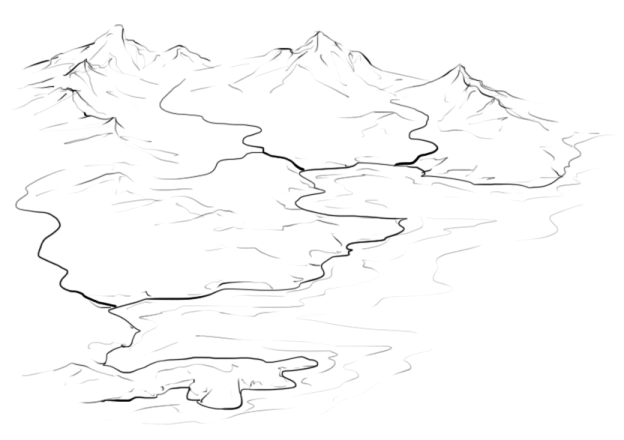 How to Draw Rivers on an Isometric Map