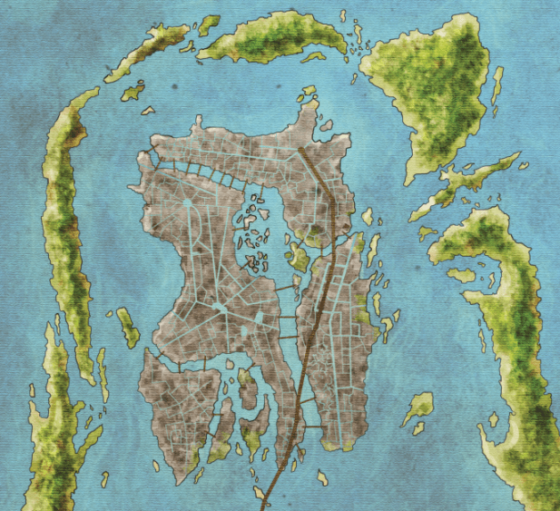 Official Map of Braavos from Lands of Ice and Fire