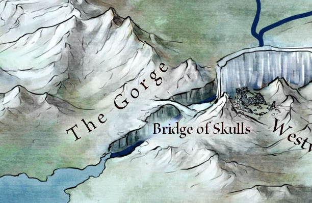 Bridge of Skulls Detail for Official Game of Thrones Fantasy map