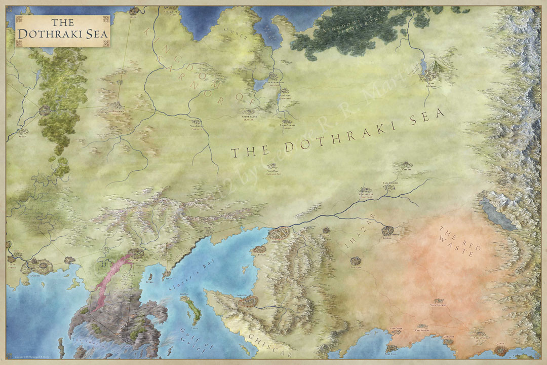 The lands of ice and fire the maps of game of thrones dothraki sea map for game of thrones gumiabroncs Gallery