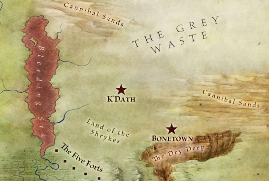 Map of the far east of essos from the official world map