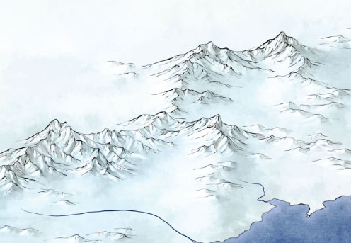 Mountain detail from Official Game of Thrones Fantasy Map