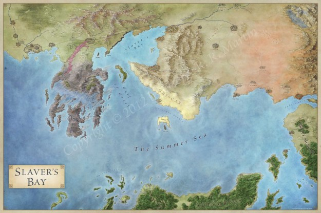 Official Slaver's Bay map for Game of Thrones