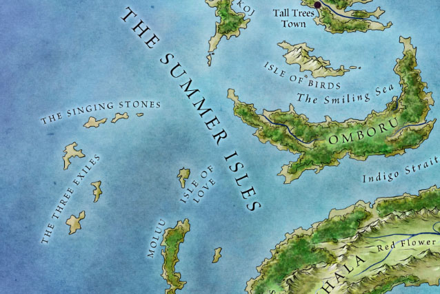 Summer Isles from map of The West for Game of Thrones