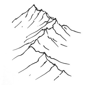 how to draw isometric mountains