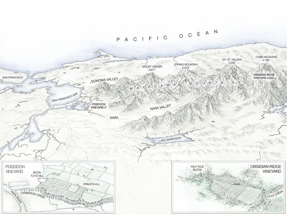 Mapping Napa Vineyards Fantastic Maps - Napa vineyards map