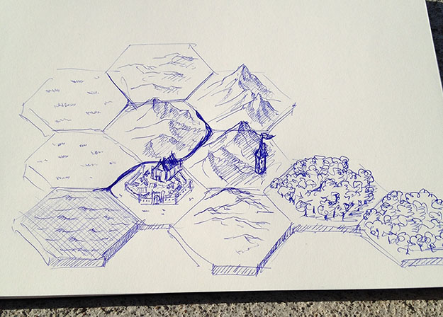 First hex mapper sketch