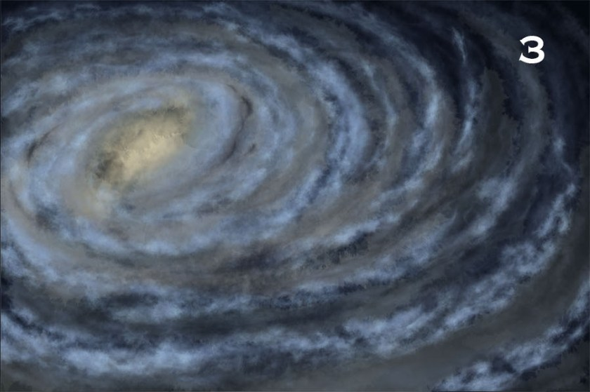 How to draw a galaxy. 3 - clusters of bright stars