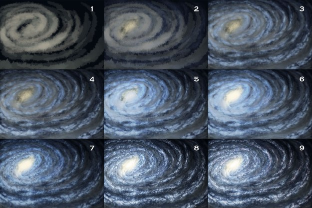 how to draw a map of a galaxy