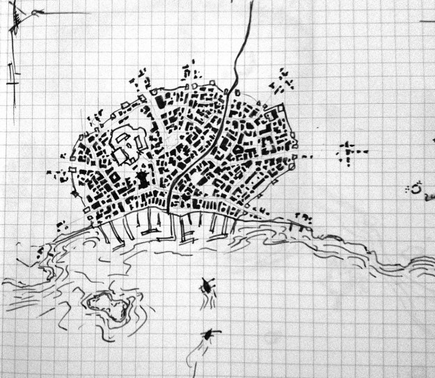 Sketch map of the city of Ballymar