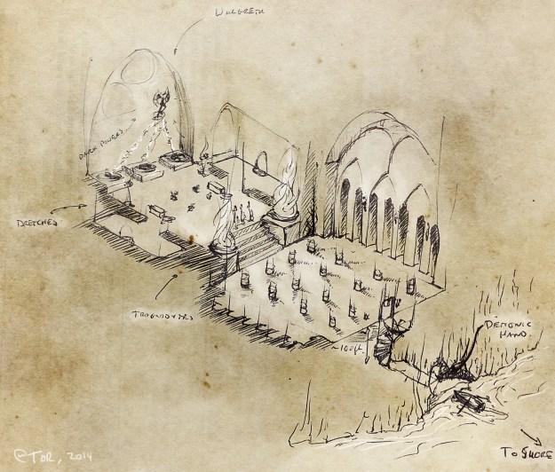D&D dungeon map