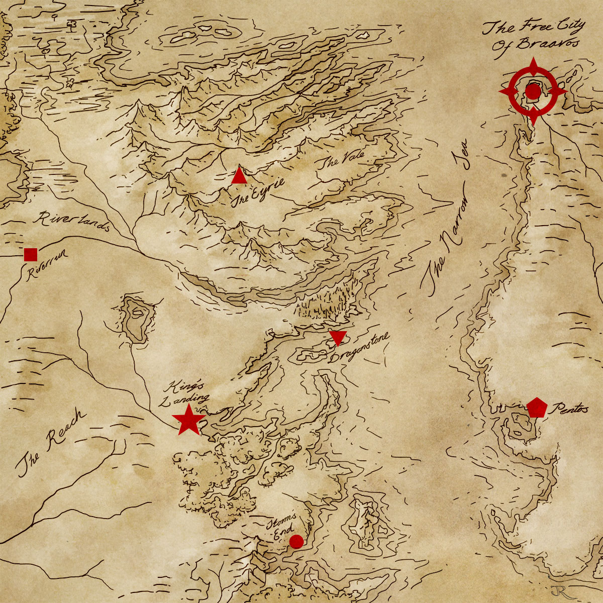 heres a map to orient braavos to the rest of the events in game of thrones braavos map game thrones