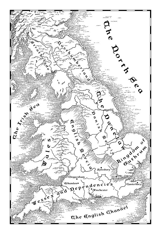 Map of Danelaw in 888