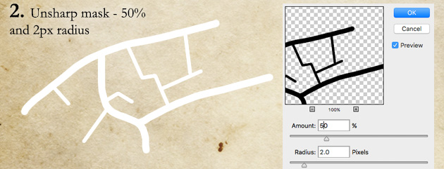 How to draw roads step 2 - sharpen the roads