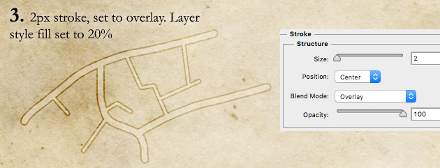 How to draw roads step 3 - stroke the layer